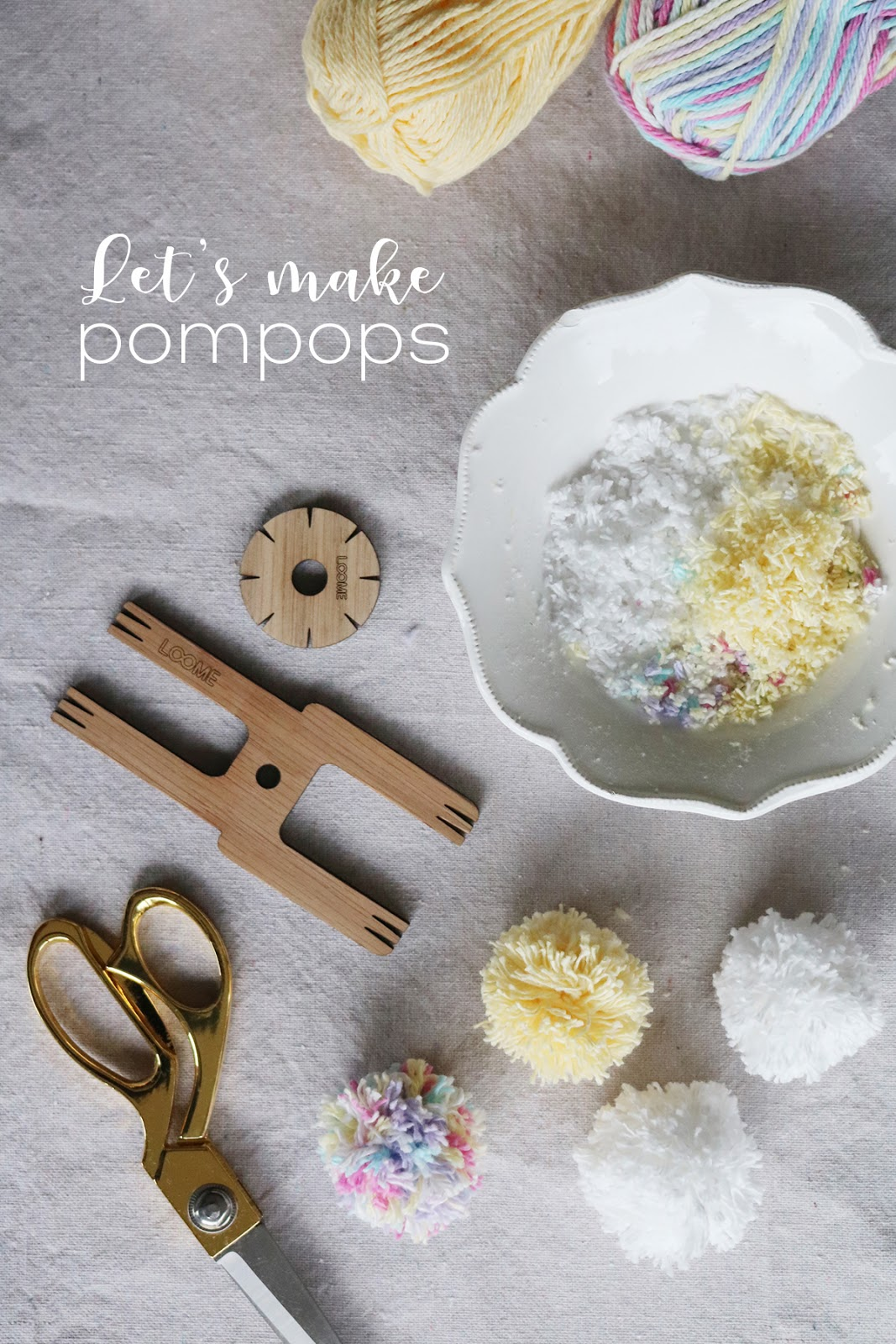 Let's make pom poms using The Loome Tools | Lorrie Everitt Studio