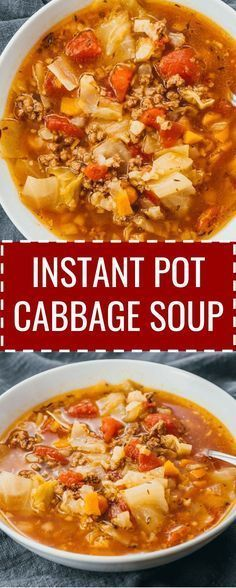 Instant Pot Cabbage Soup With Beef