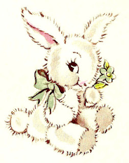baby toy rabbit image illustration digital download