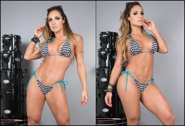 Panicat Aline Mineiro faz ensaio sensual