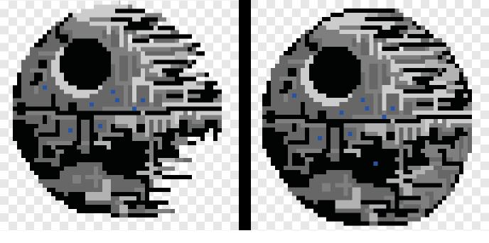 Pixel Art Star Wars Faucon Millenium