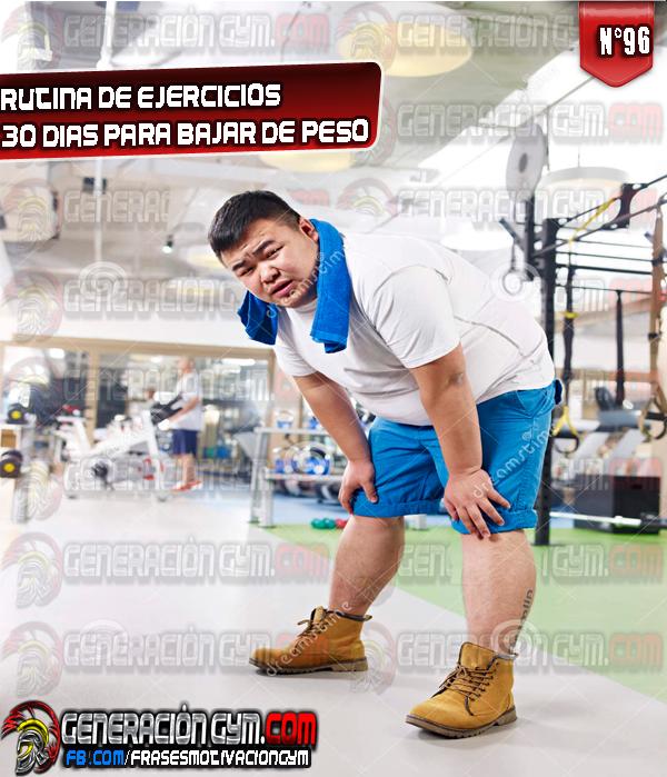 Rutina gym para bajar de peso