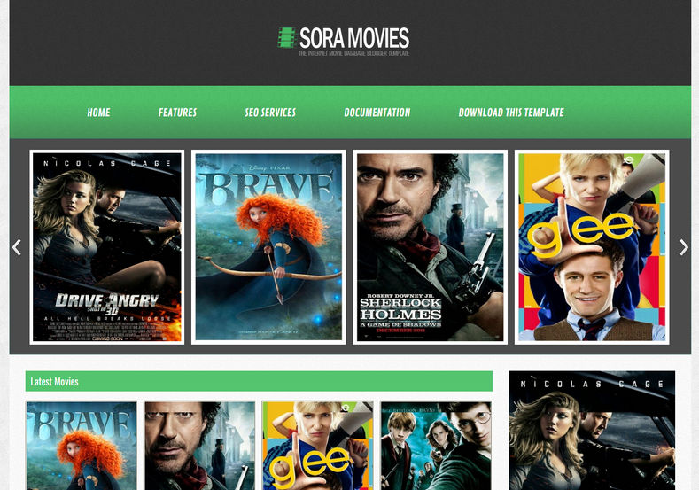 Sora Movies Blogger Template | High Quality Free Blogger Templates