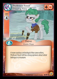 My Little Pony Professor Fossil, Chipping Away Friends Forever CCG Card