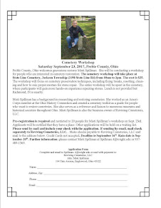 September 23, 2017 Cemetery Preservation Workshop by Misti Spillman