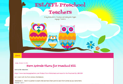 ESL/EFL Preschool Teachers