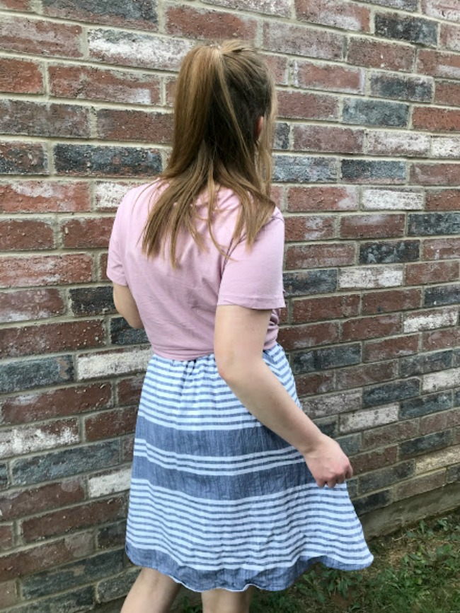 T Shirt Knotted With Sundress