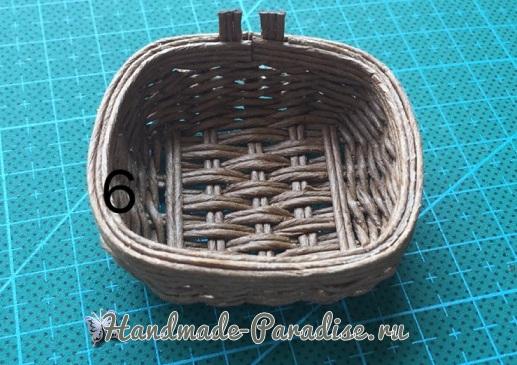Плетение сумки из проволоки для куклы (9)