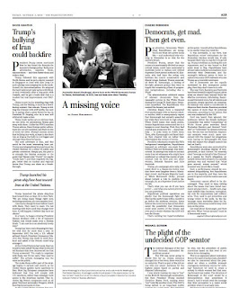 A missing voice at the printed version of  Washington Post on 5 October