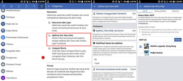 hapus data ml di fb