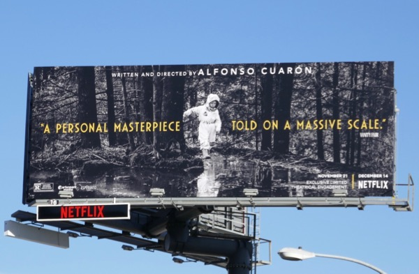 Roma movie billboard