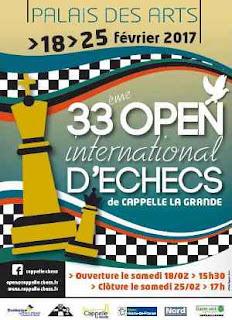 33e Open d'échecs de Cappelle 2017