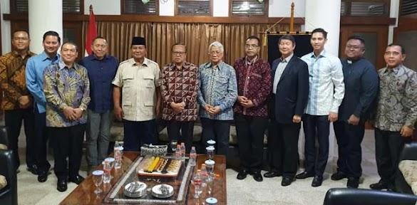 Didampingi Hashim, Prabowo Bertemu Ketua Konferensi Waligereja Indonesia