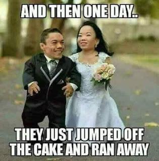 Wedding cake mishap...