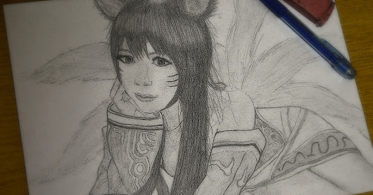 League of Legends: Ahri drawing | Gabriel LVL