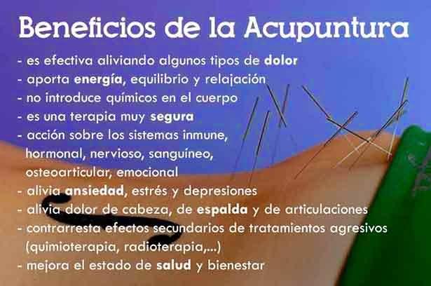 beneficios de la acupuntura para bajar de peso