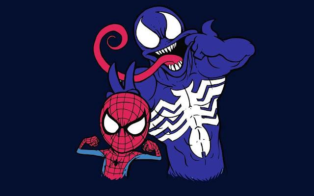 Papel de parede Homem Aranha e Venom