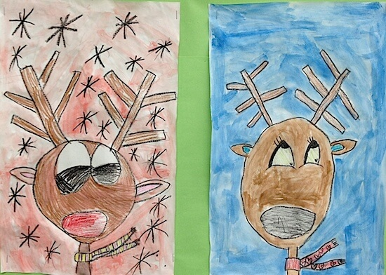 Reindeer art project