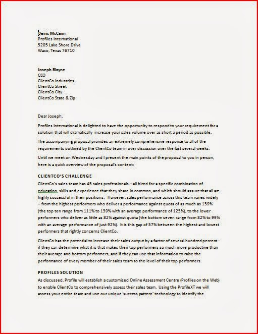 format of business proposal letter ~ Business Letter Format