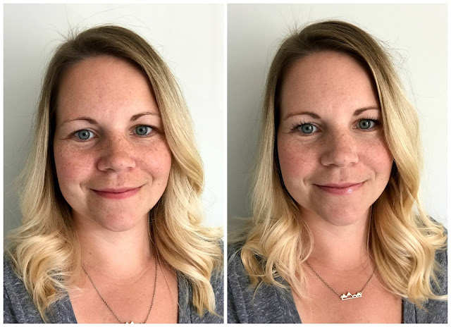 5-Minute Makeup Routine Before and After