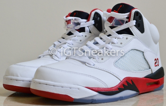 the best attitude 8aaab 57ee6 Air Jordan 5 Retro White Fire Red-Black Available Early On eBay