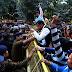 Rajpoot Karni Sena UP protested Samjawadi party spokesperson
