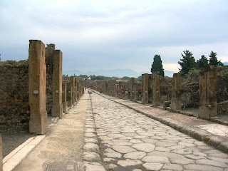 One of the main streets in Pompeii
