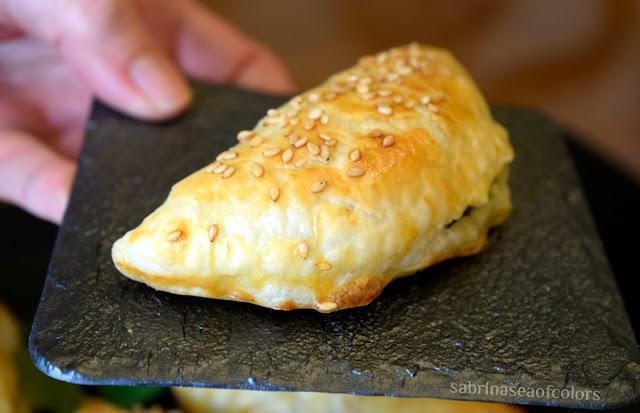 Empanadillas de espinaca y queso ricotta