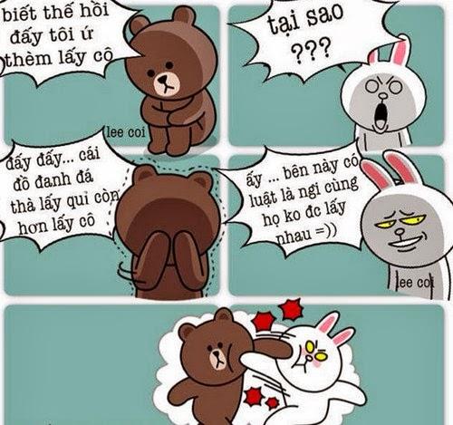 Tranh vui hài hước Gấu Brown và Thỏ Cony 4
