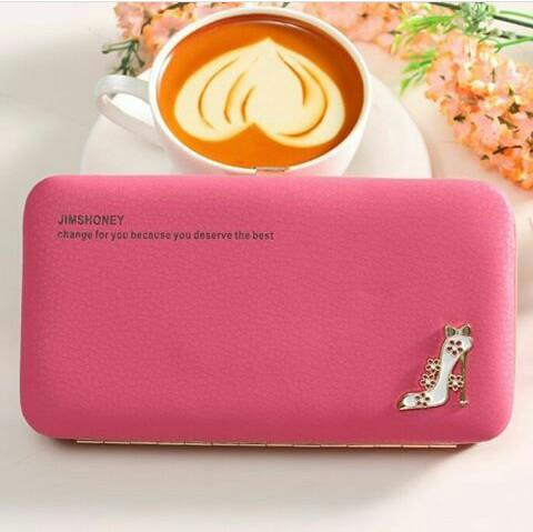 JH Meghan Heels Wallet Pink