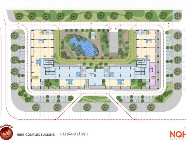 Mặt bằng thiết kế chung cư HH01 Complex Building Nam Cường