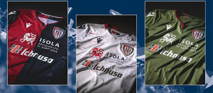 Cagliari Calcio 19-20 Home, Away & Third Kits Released