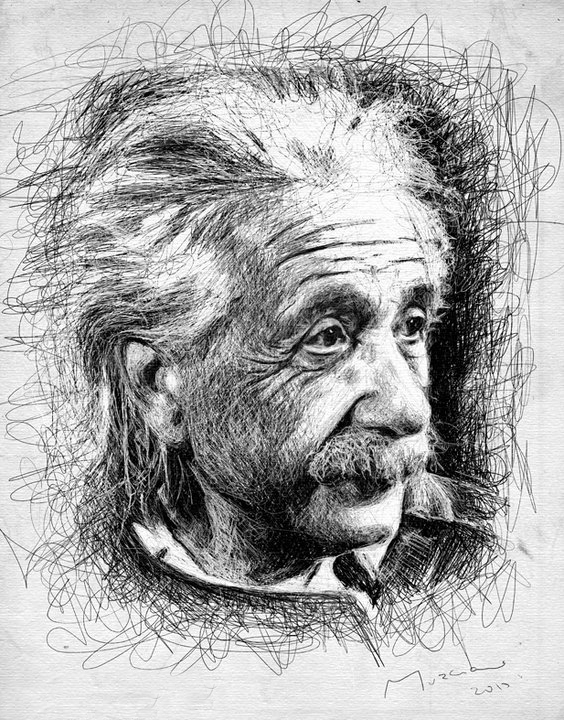 Albert Einstein | Patrice Murciano 1969 | French Pop Art and Mix Media painter