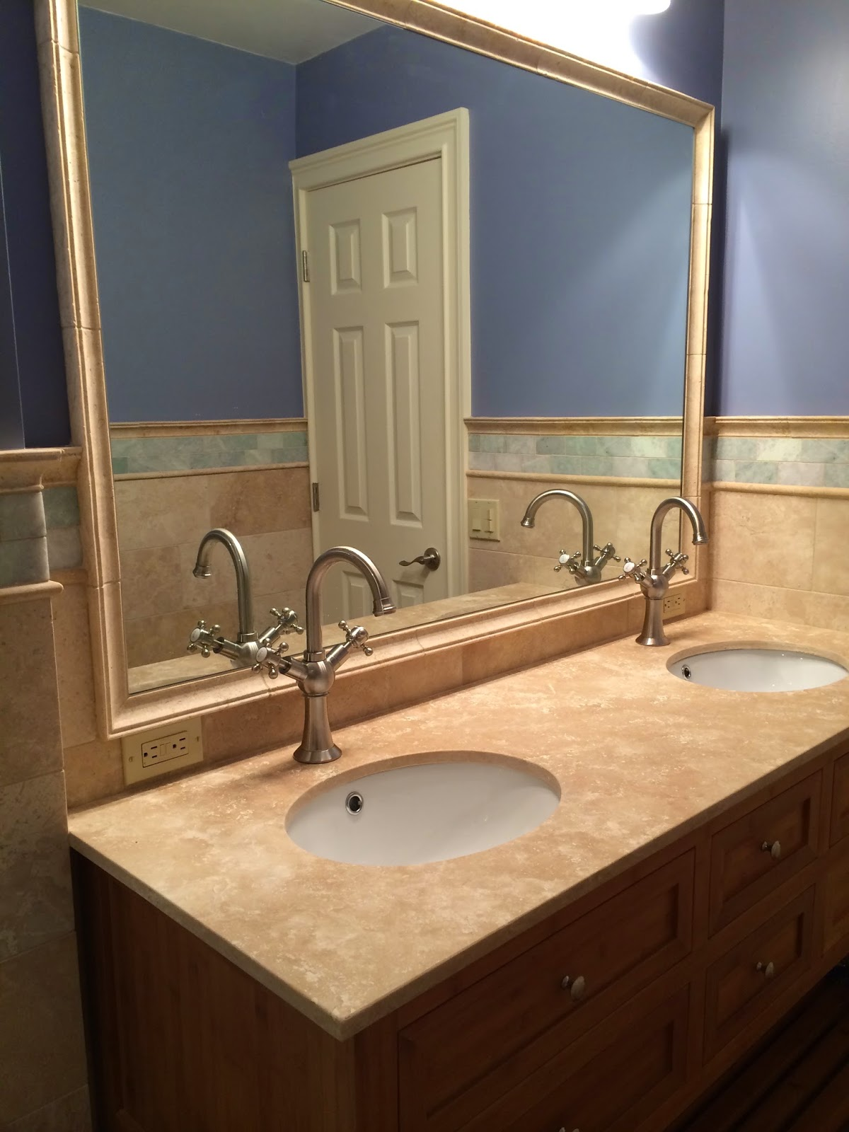 Nice Elegant Travertine Bathroom Remodel October/November 2014