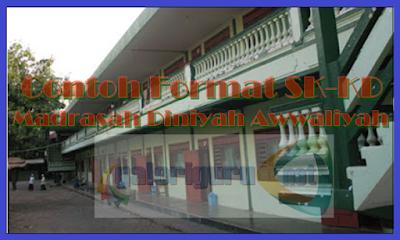 Contoh Format SK-KD Madrasah Diniyah Awwaliyah