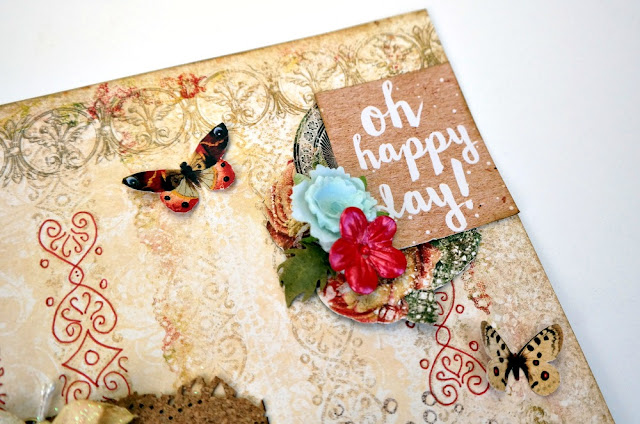 Journaling Card Title on a Romantic Scrapbook Layout by Dana Tatar