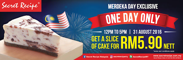 Secret Recipe Slice of Cake Merdeka Promo