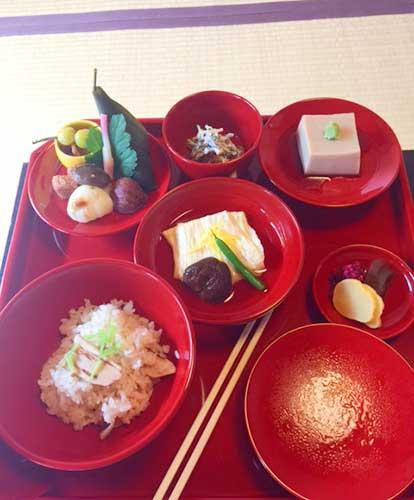 Shigetsu Zen Vegetarian Restaurant at Tenryuji Temple, Kyoto.