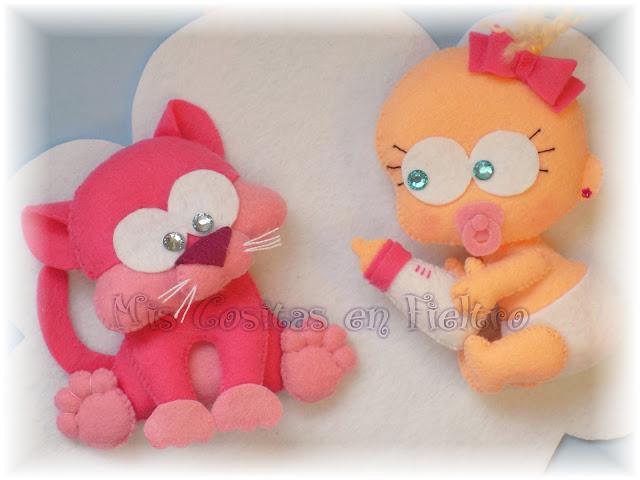bebé, decoración, baby, animal, cloud, felt, fieltro, nube, adorno de fieltro, niños, habitación, gato, gata, gatito, gatita, gatiña, kitty, kitten, cat, chat