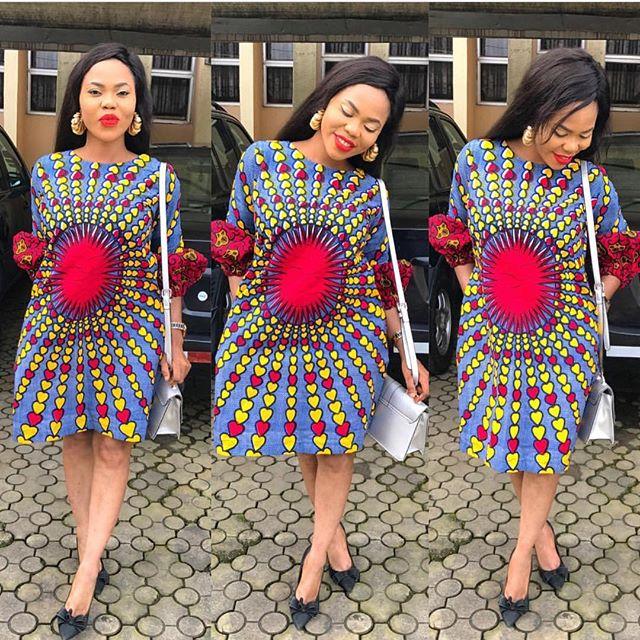 Trending Ankara Short Gown 2018 For Ladies