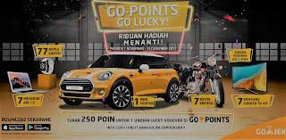 Pengguna GO-JEK Bisa Raih Mobil Mini Cooper 5 Door dan Ratusan Hadiah Periode 1 November-15 Desember 2017
