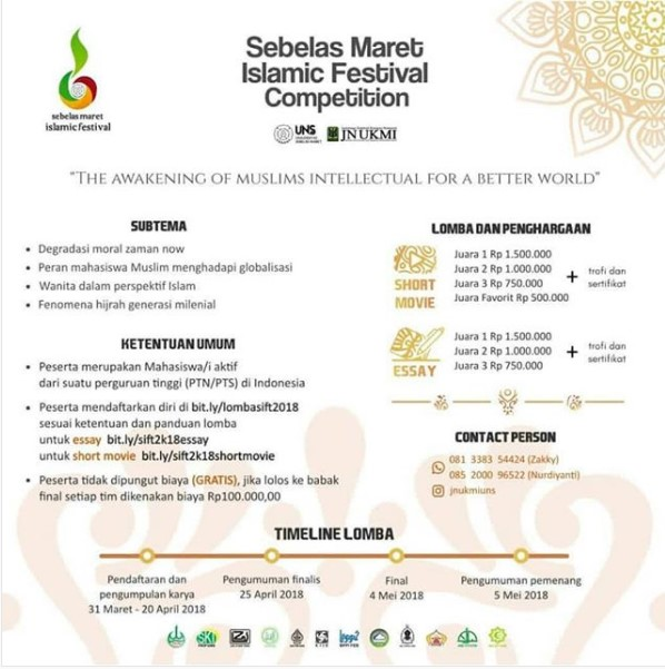Event Sebelas Maret Islamic Competition Mahasiswa 2018 UNS