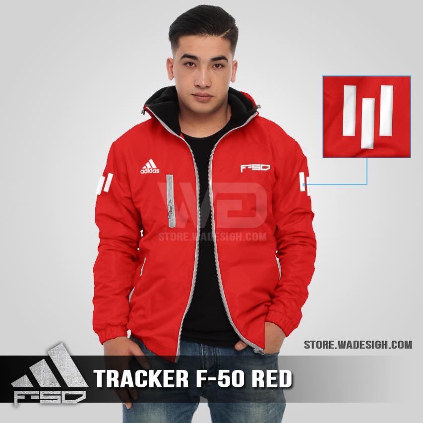 Jaket Tracker Waterproof Adidas F-50 Merah