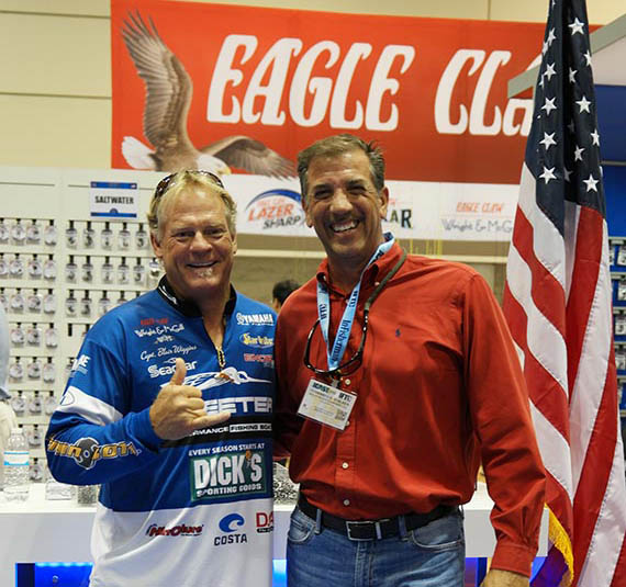 Capt Blair Wiggins at Eagle Claw ICAST booth