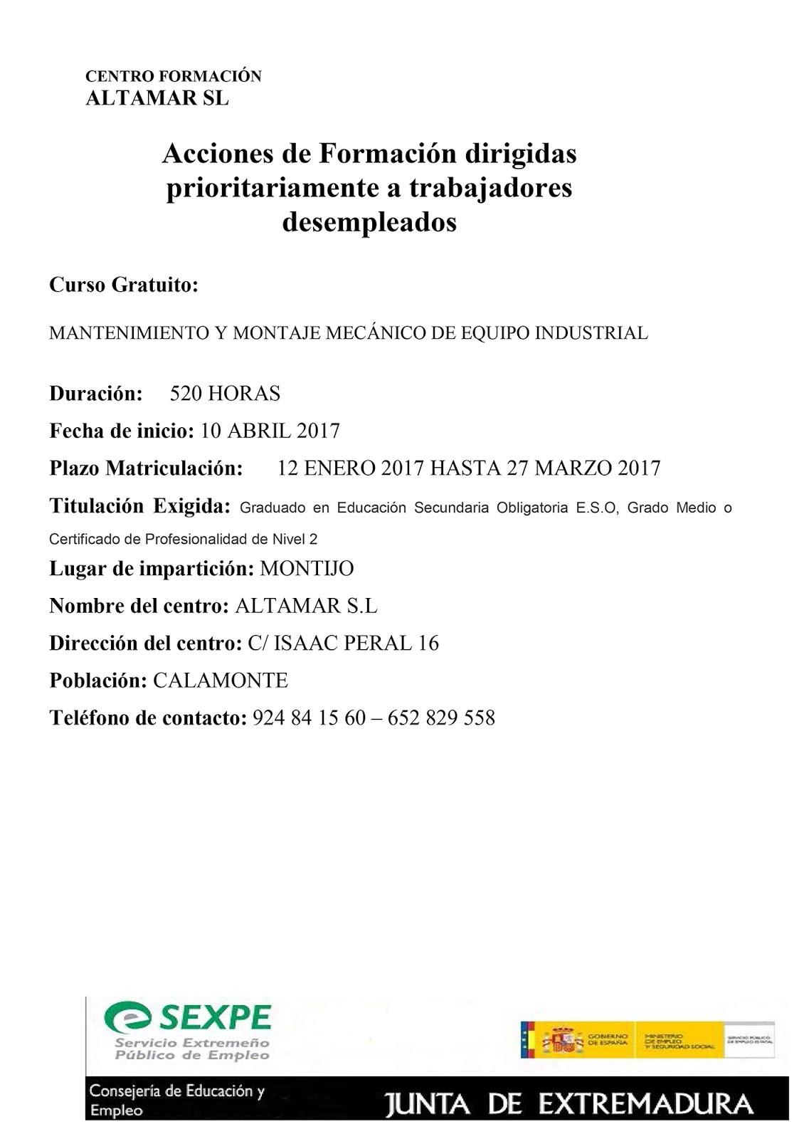 Certificado De Profesionalidad Mantenimiento Y Montaje Mec Nico De