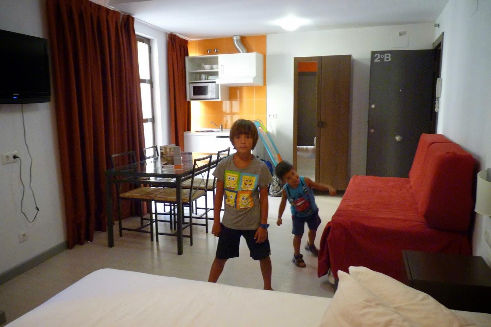 Nuestro alojamiento en Cáceres.