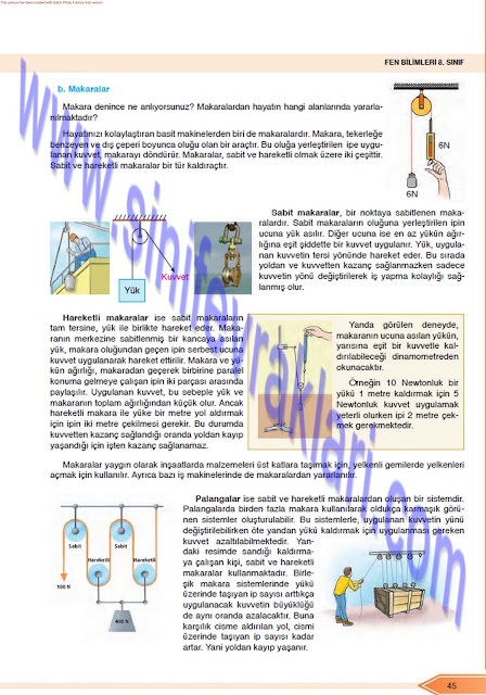 Öğün Yayınları 8. Sınıf Fen Bilimleri Ders Kitabı Cevapları Sayfa 45