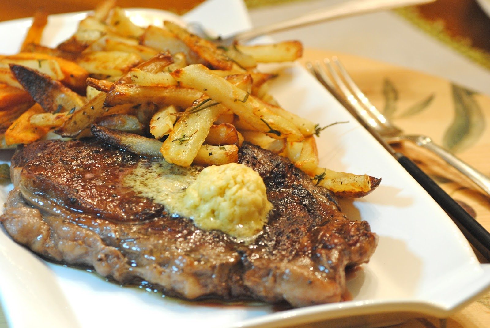 Bakeaway With Me Steak With Mustard Butter And French Fries