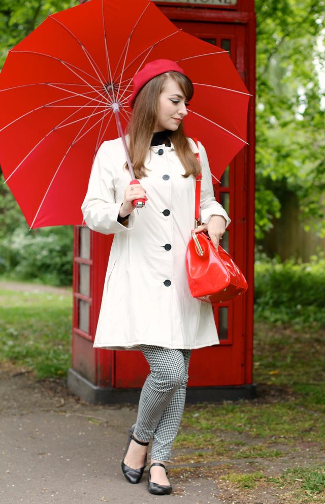 Jackie PVC white 60s rain mac by Madcap England, Atom Retro