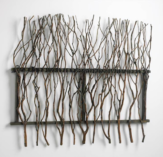 Wood branch wall decor